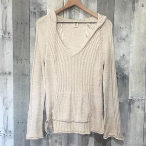 Roxy Cream Pullover Hoodie Sweater